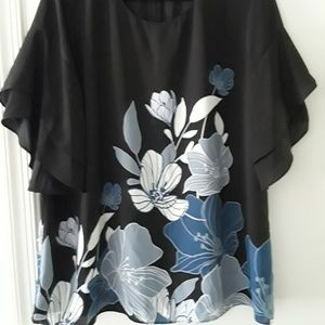 Blue floral Alfani top